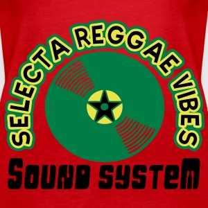 selecta reggae vibes sound system Tops - Women's Premium Tank Top