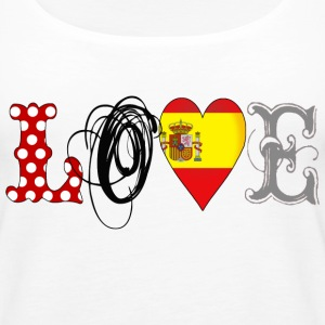 Love Spain Black - Frauen Premium Tank Top