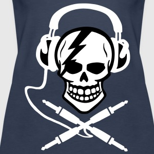 Pirate music, pirate music piracy Headphones Tops - Women's Premium Tank Top