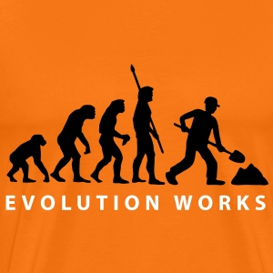 evolution_construction_worker_01_a_2 T-Shirts - Men's Premium T-Shirt