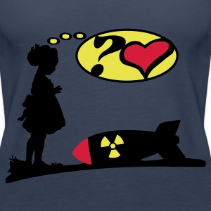 Are you lovely? Bomb Girl love comic / Atomic Bomb Tops - Women's Premium Tank Top