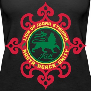 lion of judah ethiopia rasta peace unity Tops - Women's Premium Tank Top
