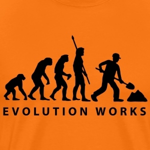 evolution_construction_worker_01_a_1 T-Shirts - Männer Premium T-Shirt