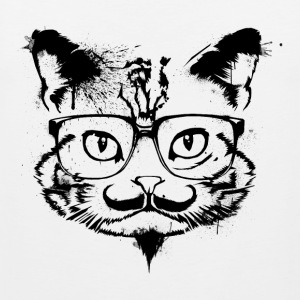 Hipster Cat - Shirt - Men's Premium Tank Top