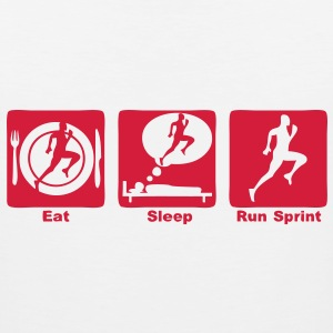sprint athletisme eat sleep play Tee shirts - Débardeur Premium Homme