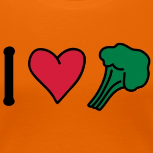 broccoli_love T-shirts - Dame premium T-shirt