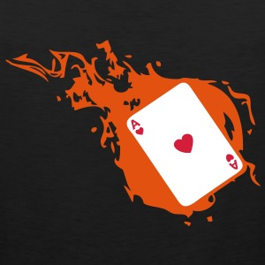 carte poker card as flamme coeur1 Tee shirts - Débardeur Premium Homme