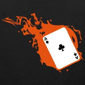 carte poker card as flamme trefle1 Tee shirts - Débardeur Premium Homme