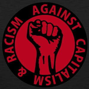 2 colors - against capitalism & racism - against capitalism working class war revolution T-Shirts - Men's Premium Tank Top