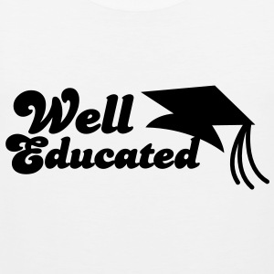 well educated with mortar board graduation T-Shirts - Men's Premium Tank Top