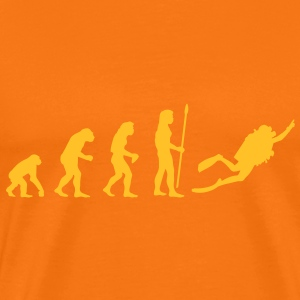 evolution_dive T-shirts - Premium-T-shirt herr