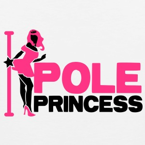 pole princess with dancing lady and a pole in high heels T-Shirts - Men's Premium Tank Top