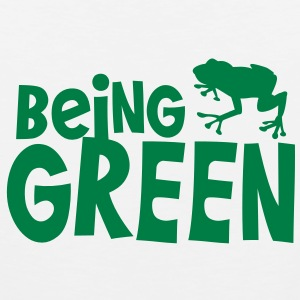 being green with a green tree frog T-Shirts - Men's Premium Tank Top