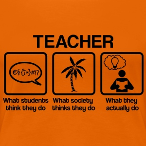 Teacher - What my friends think I do T-Shirts - Women's Premium T-Shirt