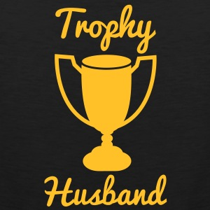 trophy husband with gold trophy T-Shirts - Men's Premium Tank Top