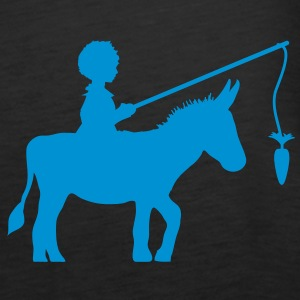 A boy and a donkey Tops - Women's Premium Tank Top