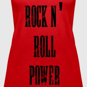 rock n' roll power Topy - Tank top damski Premium