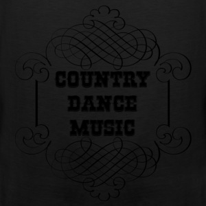 country dance music T-Shirts - Men's Premium Tank Top