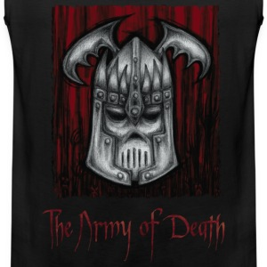 The Army of Death, Iron Grey Skull.  T-Shirts. - Men's Premium Tank Top