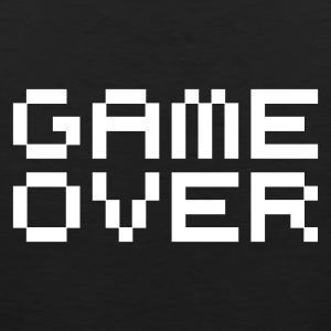 Game over / game over pixels T-shirts - Mannen Premium tank top