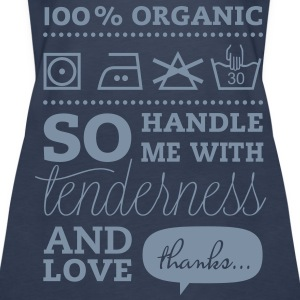 Typographic Laundry Tag TLC  Tops - Vrouwen Premium tank top