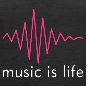 Music is life Pulse / Music is life soundwave Tops - Frauen Premium Tank Top