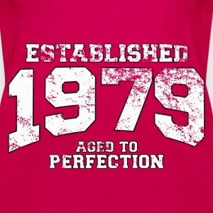 established 1979 - aged to perfection (uk) Tops - Women's Premium Tank Top