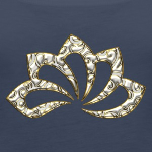 Lotus Flower, digital, gold silver, symbol of perfection and enlightenment, sacred symbol Tops - Women's Premium Tank Top