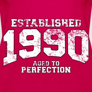 established 1990 - aged to perfection (uk) Tops - Women's Premium Tank Top