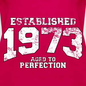 established 1973 - aged to perfection (uk) Tops - Women's Premium Tank Top