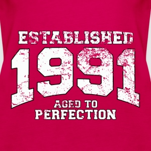 established 1991 - aged to perfection (uk) Tops - Women's Premium Tank Top