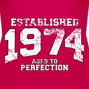 established 1974 - aged to perfection (uk) Tops - Women's Premium Tank Top