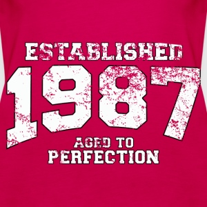 established 1987 - aged to perfection (uk) Tops - Women's Premium Tank Top