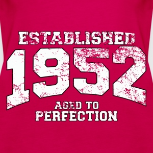 established 1952 - aged to perfection (uk) Tops - Women's Premium Tank Top