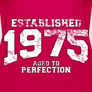 established 1975 - aged to perfection (uk) Tops - Women's Premium Tank Top