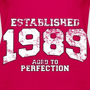 established 1989 - aged to perfection (uk) Tops - Women's Premium Tank Top