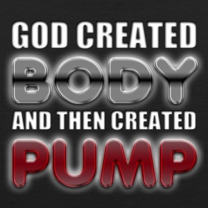 God Created Body Pump T-Shirts - Men's Premium Tank Top