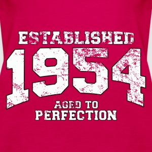 established 1954 - aged to perfection (fr) Débardeurs - Débardeur Premium Femme