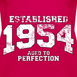 established 1954 - aged to perfection (uk) Tops - Women's Premium Tank Top