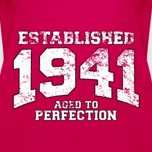 established 1941 - aged to perfection (uk) Tops - Women's Premium Tank Top