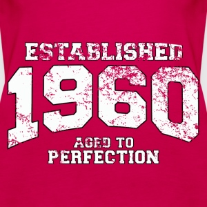 established 1960 - aged to perfection (uk) Tops - Women's Premium Tank Top