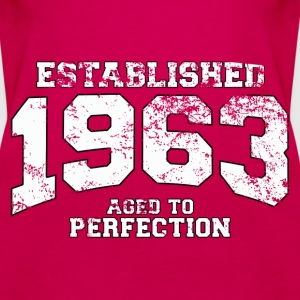 established 1963 - aged to perfection (fr) Débardeurs - Débardeur Premium Femme