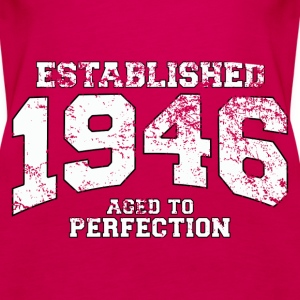 established 1946 - aged to perfection (uk) Tops - Women's Premium Tank Top