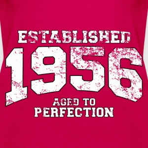 established 1956 - aged to perfection (uk) Tops - Women's Premium Tank Top