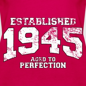 established 1945 - aged to perfection (fr) Débardeurs - Débardeur Premium Femme