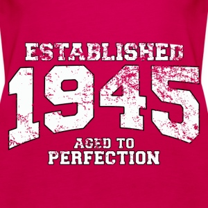 established 1945 - aged to perfection (uk) Tops - Women's Premium Tank Top