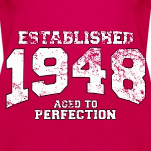 established 1948 - aged to perfection (uk) Tops - Women's Premium Tank Top