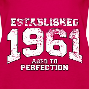 established 1961 - aged to perfection (uk) Tops - Women's Premium Tank Top