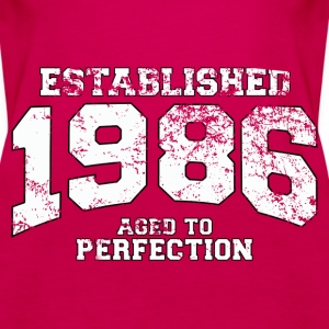 established 1986 - aged to perfection (uk) Tops - Women's Premium Tank Top