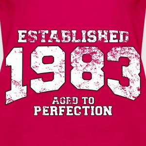 established 1983 - aged to perfection (uk) Tops - Women's Premium Tank Top